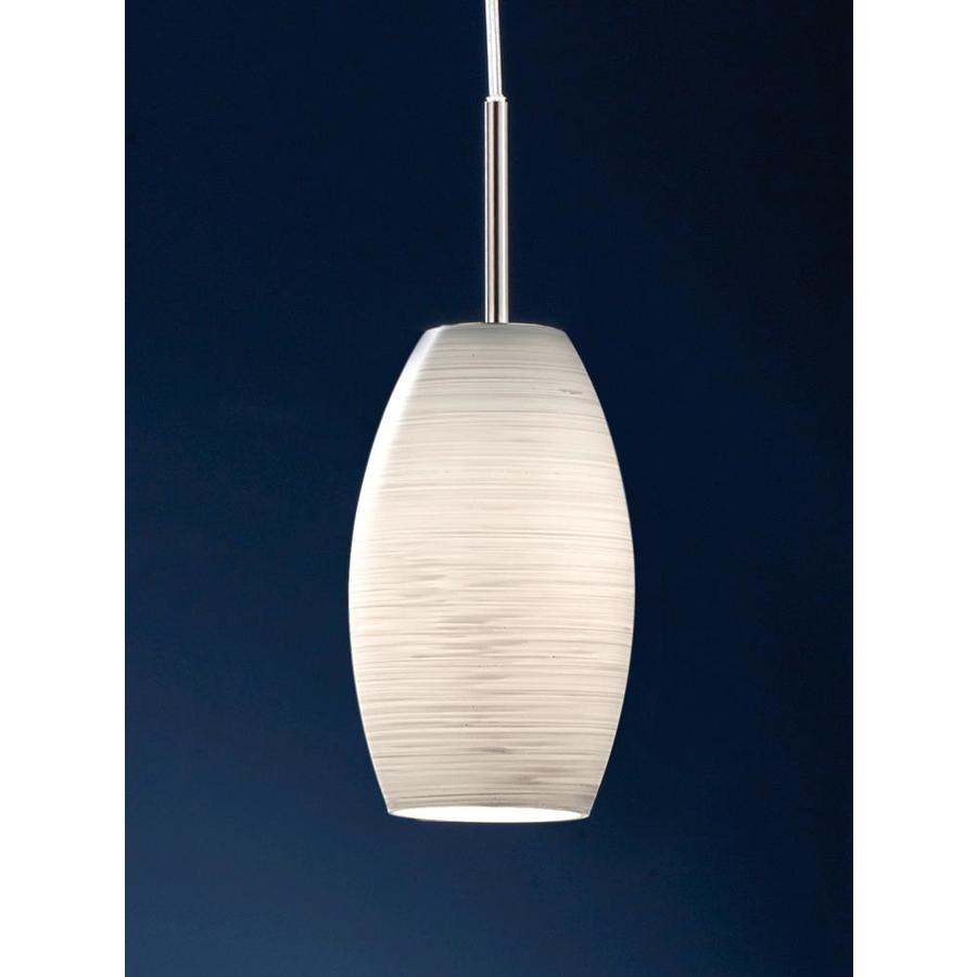 Eglo Batista 1 Matte Nickel Modern Contemporary White Glass Jar Pendant Light In The Pendant Lighting Department At Lowes Com
