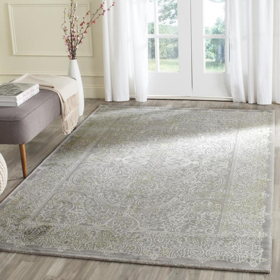 Safavieh Passion Serre 9 X 12 Gray Green Indoor Distressed Overdyed Vintage Area Rug In The Rugs Department At Lowes Com