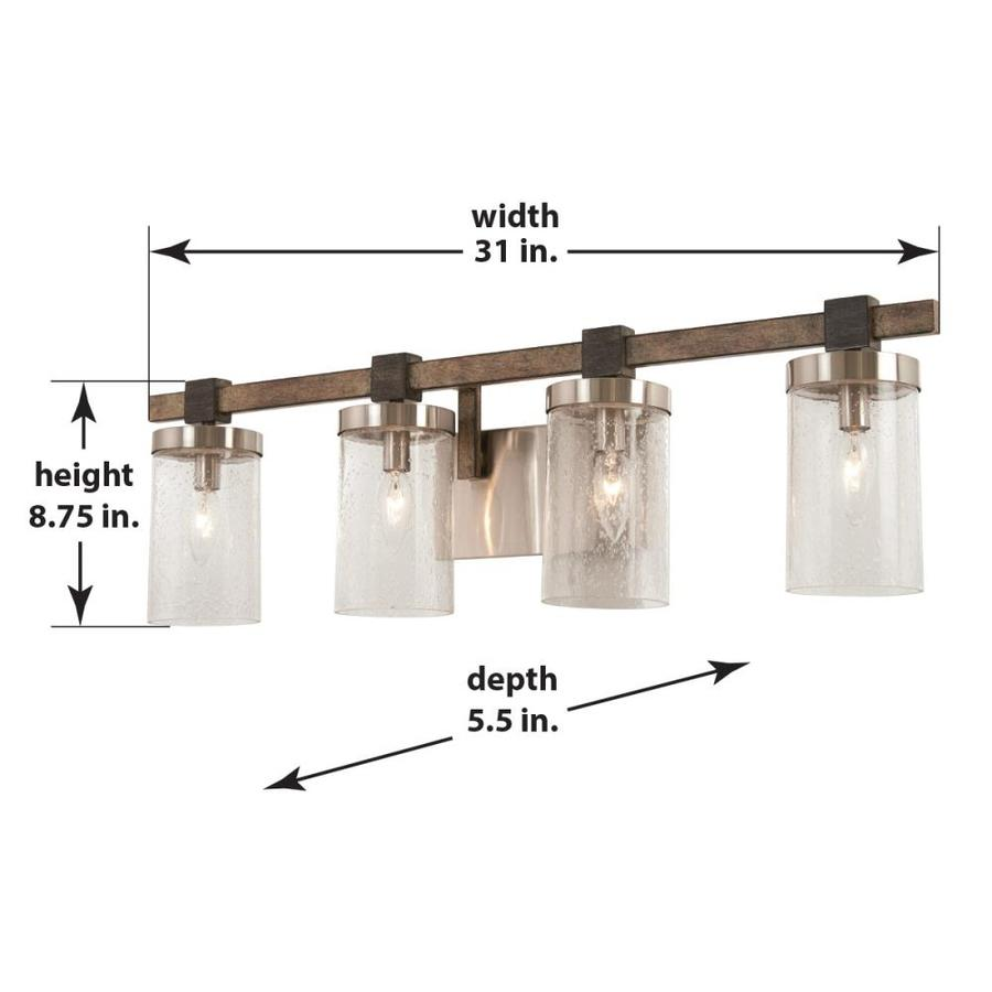 Minka Lavery Bridlewood 4 Light Gray Farmhouse Vanity Light In The Vanity Lights Department At Lowes Com