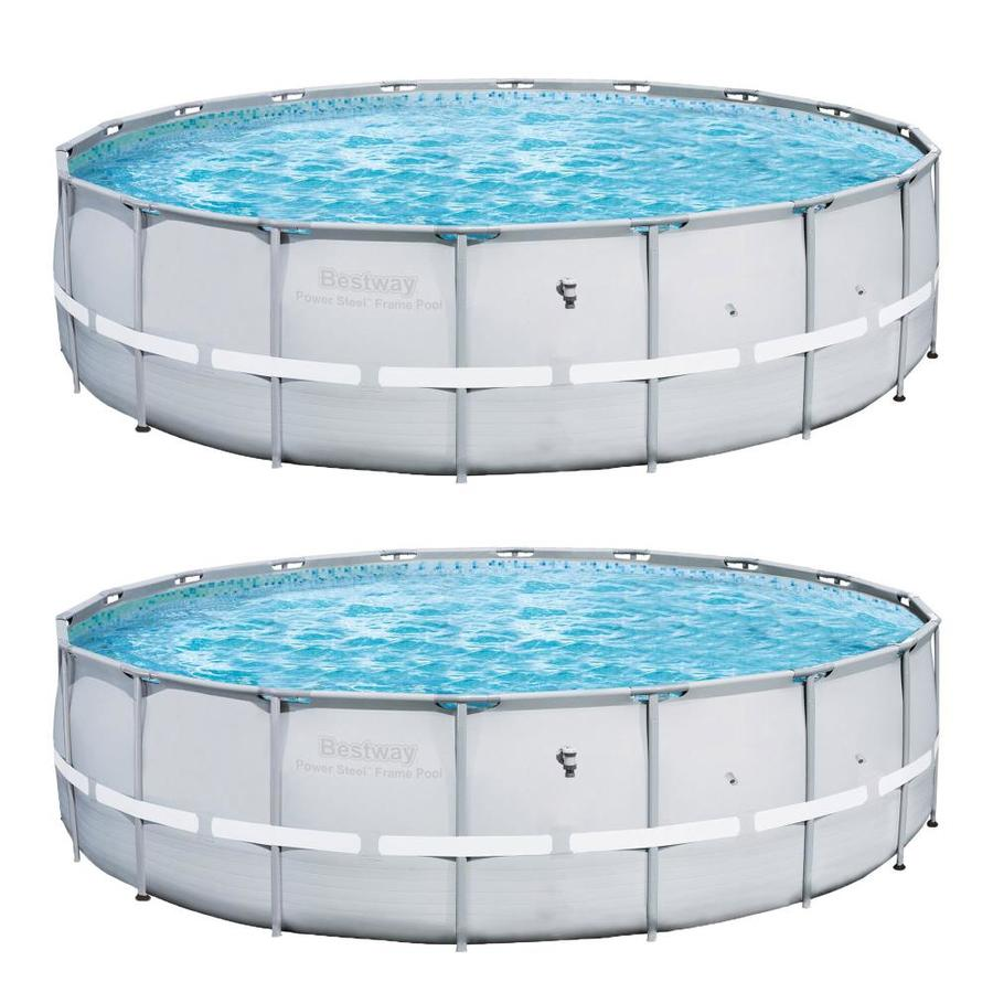 18-Ft X 18-Ft X 52-In Round Above-Ground Pool - Bestway 112976