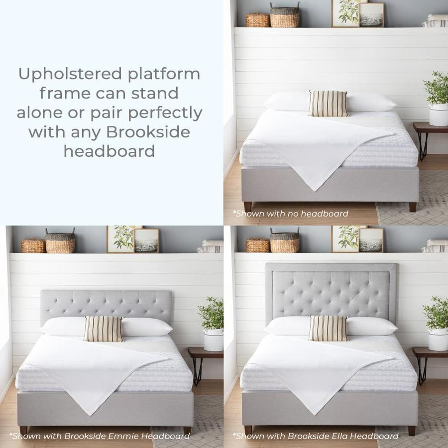 Brookside Ava Stone Full Platform Bed In The Beds Department At Lowes Com