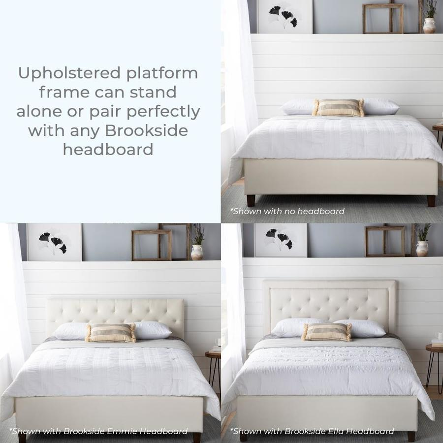 Brookside Ava Cream King Platform Bed In The Beds Department At Lowes Com