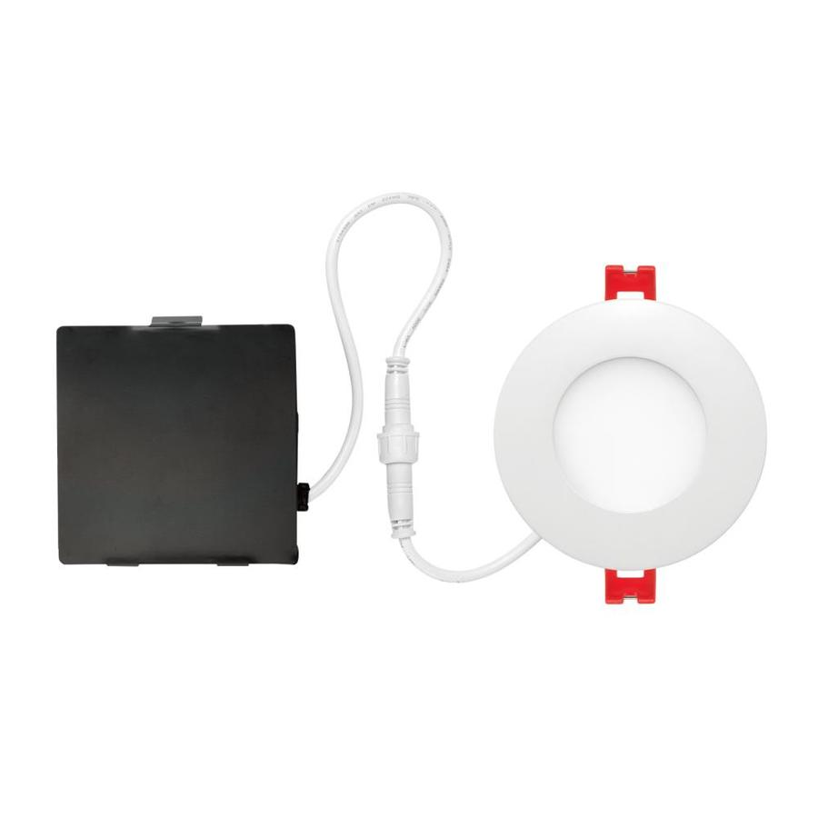 Globe Electric Designer Series Ultra Slim 4 Pack 3 1 4 In Led Remodel And New Construction White Ic Shower Recessed Light Kit In The Recessed Light Kits Department At Lowes Com