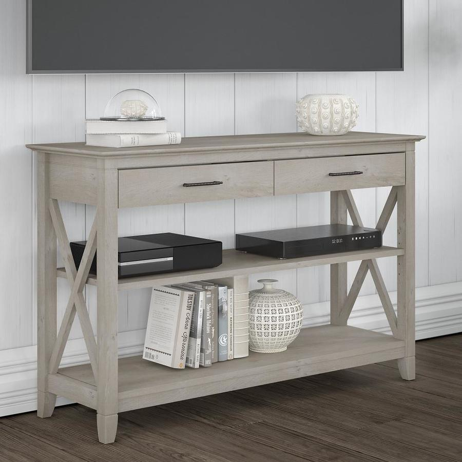 Bush Furniture Key West Gray Casual Console Table In The Console Tables Department At Lowes Com