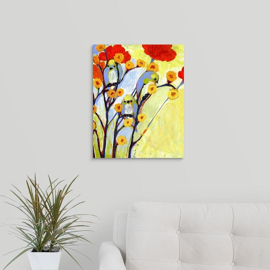 Greatbigcanvas Greatbigcanvas Frameless 20 In H X 16 In W Abstract Canvas Painting In The Wall Art Department At Lowes Com