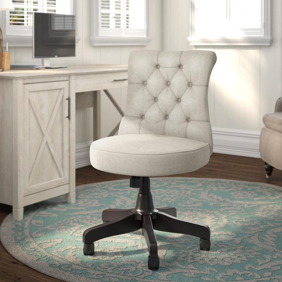 Bush Business Furniture Arden Lane Cream Fabric Contemporary Adjustable Height Swivel Desk Chair In The Office Chairs Department At Lowes Com