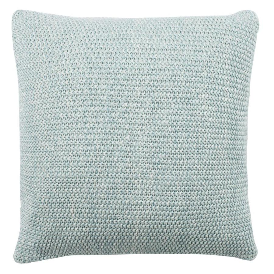 Safavieh Liliana 20 In X 20 In Dull Blue Natural 100 Cotton Square Indoor Decorative Pillow In The Throw Pillows Department At Lowes Com