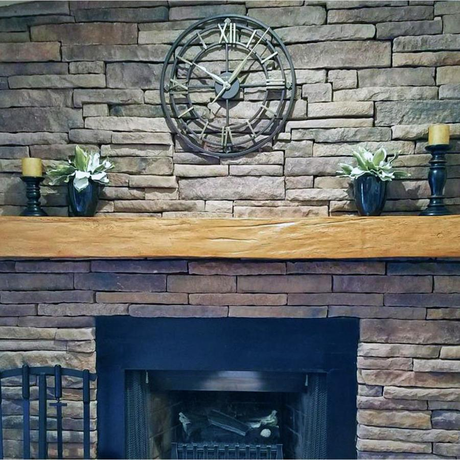 Ekena Millwork Hand Hewn Faux Wood 84 In W X 4 In H X 4 In D Whitewash Urethane Rustic Fireplace Mantel In The Fireplace Mantels Department At Lowes Com