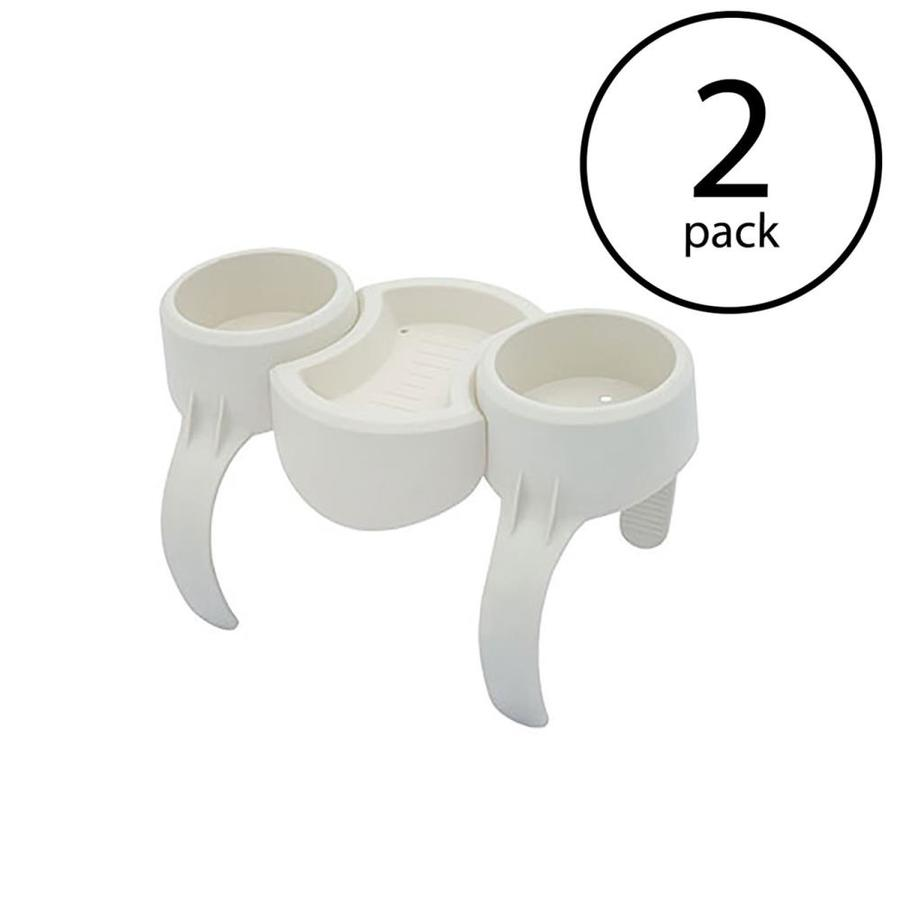 Plastic Saluspa Drinks Holder/Snack Tray For Side Accessory (2 Pack) - Bestway 108002