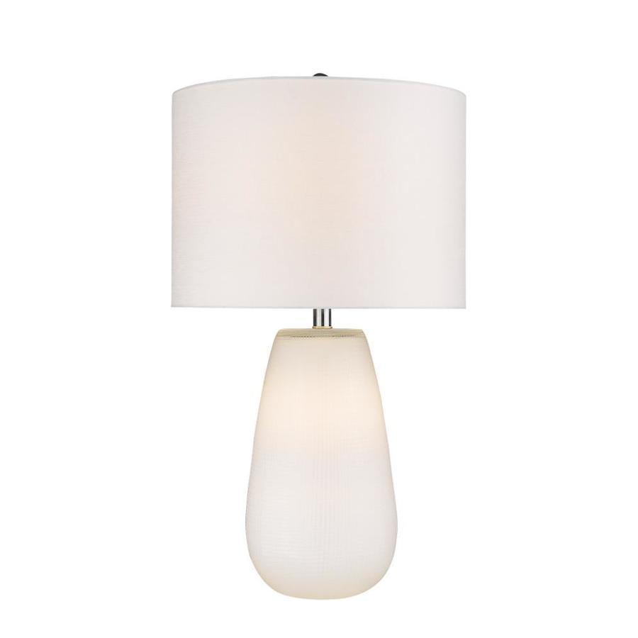Trend Home 1 Light White Table Lamp