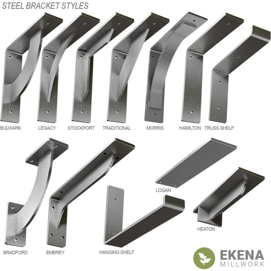 Ekena Millwork Traditional 24 In X 2 In X 24 In Steel Mounting Bracket In The Angles Brackets Braces Department At Lowes Com