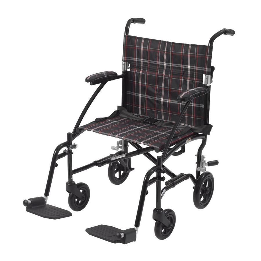 Drive Medical Black Fold-Up/Easy Storage Wheelchair Dfl19-Blk