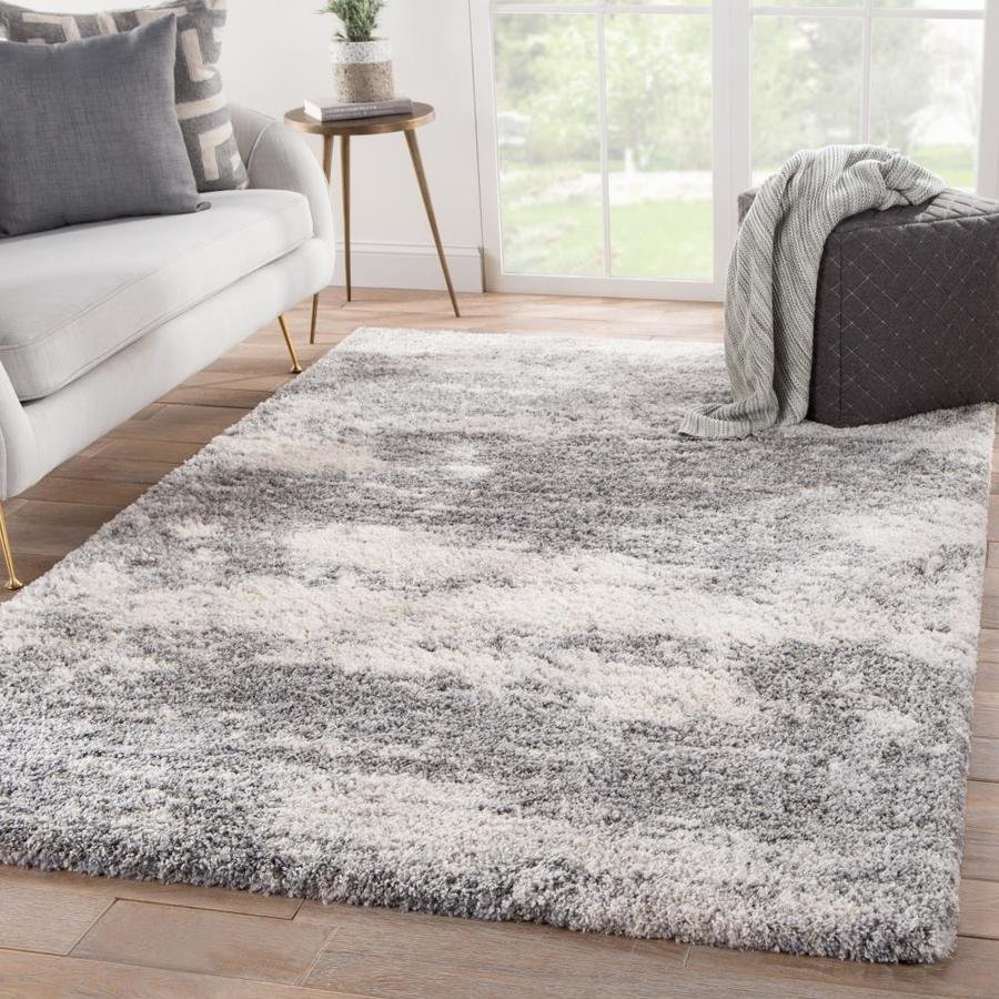 Folea 8 X 10 Gray Ivory Indoor Abstract Kids Area Rug In The Rugs Department At Lowes Com
