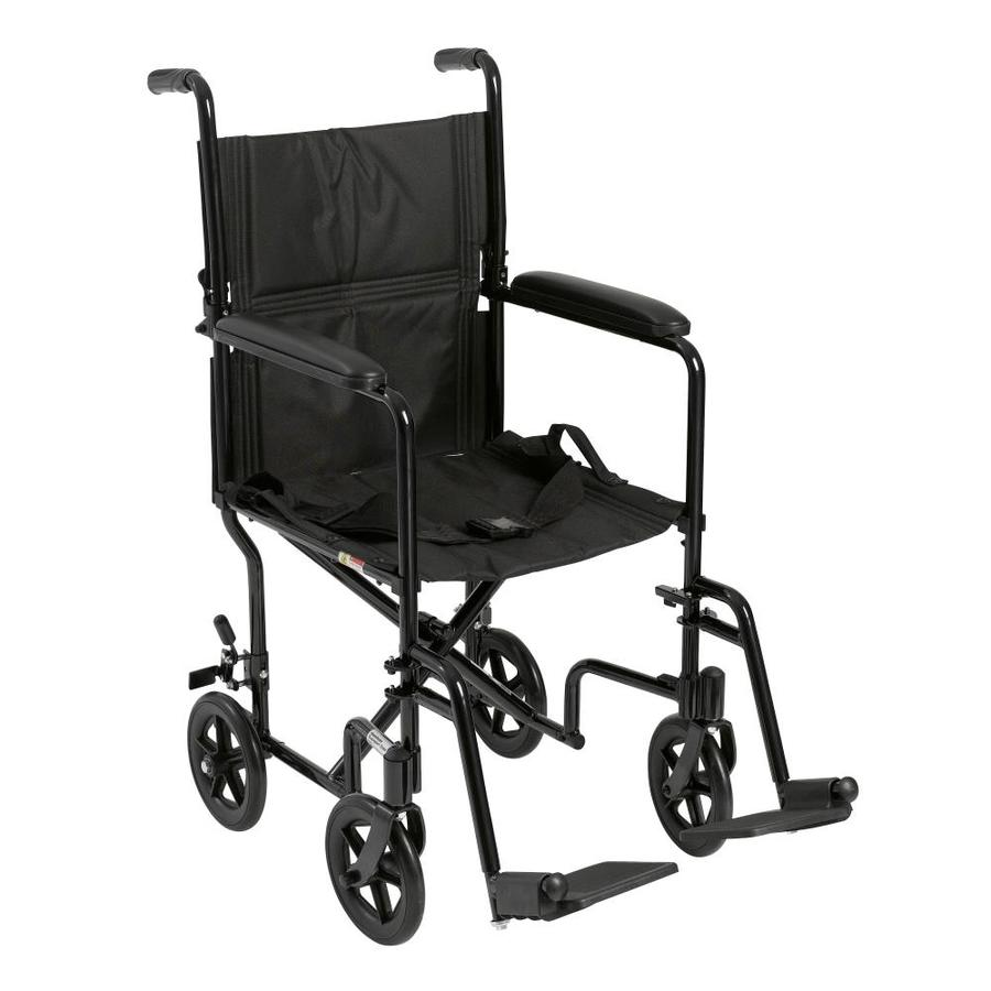 Drive Medical Lightweight Transport Wheelchair, 19-In Seat, Black Atc19-Bk