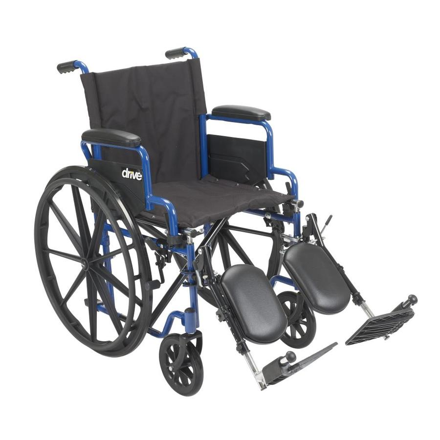 Drive Medical Blue Streak Wheelchair With Flip Back Desk Arms, Elevating Leg Rests, 18-In Seat Bls18fbd-Elr