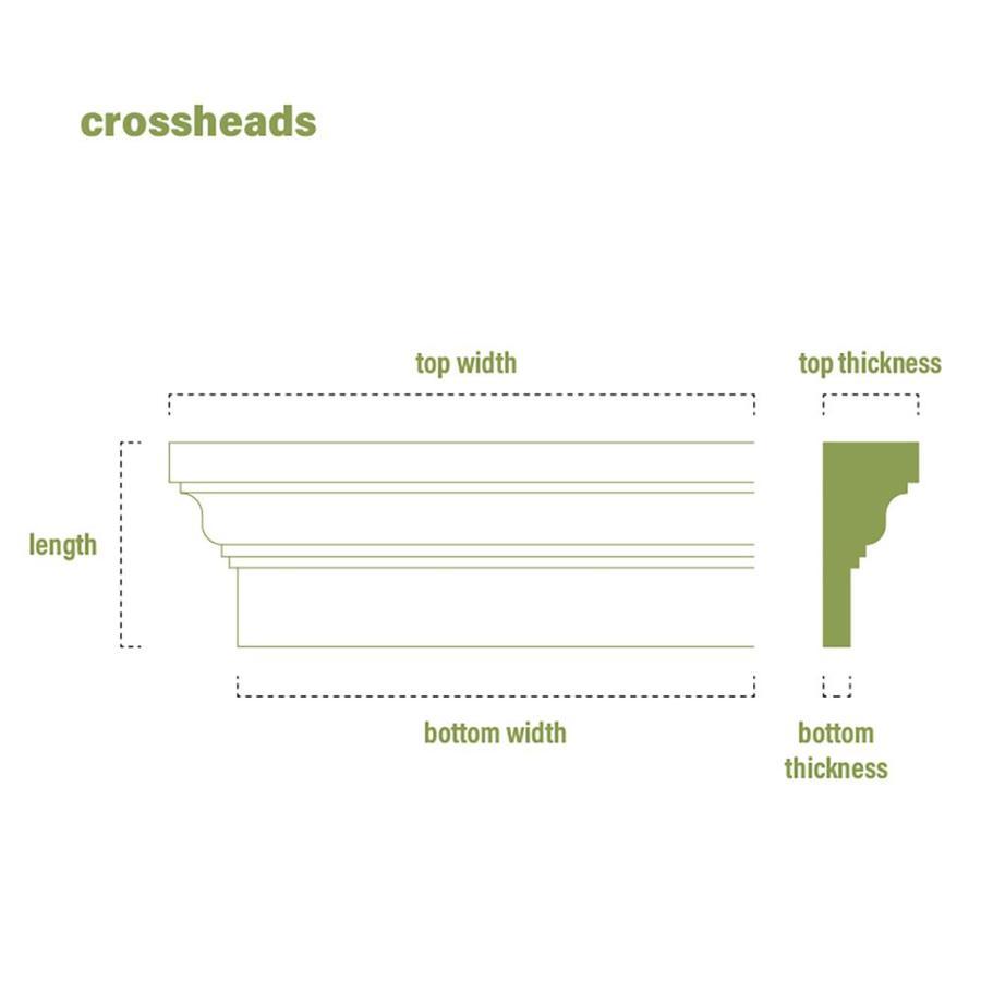 73 Bottom Width x 76 1//2 Top Width Ekena Millwork CRH06X73 Crosshead Factory Primed White