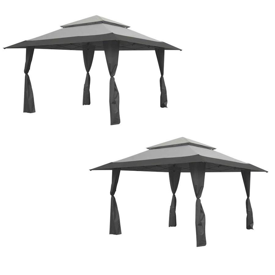 13 X 13 Foot Instant Gazebo Canopy Tent Outdoor Patio Shelter, Gray (2 Pack) - Z-Shade 113377