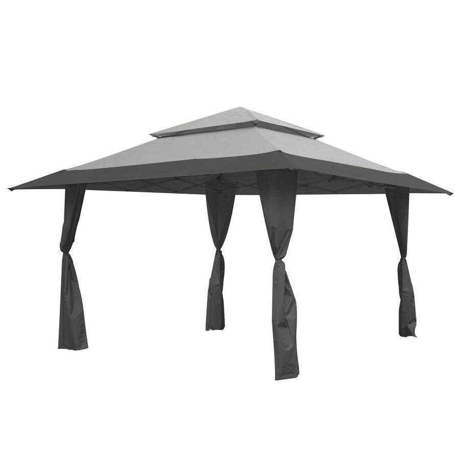 13 X 13 Foot Instant Gazebo Canopy Tent Outdoor Patio Shelter, Gray - Z-Shade 89497