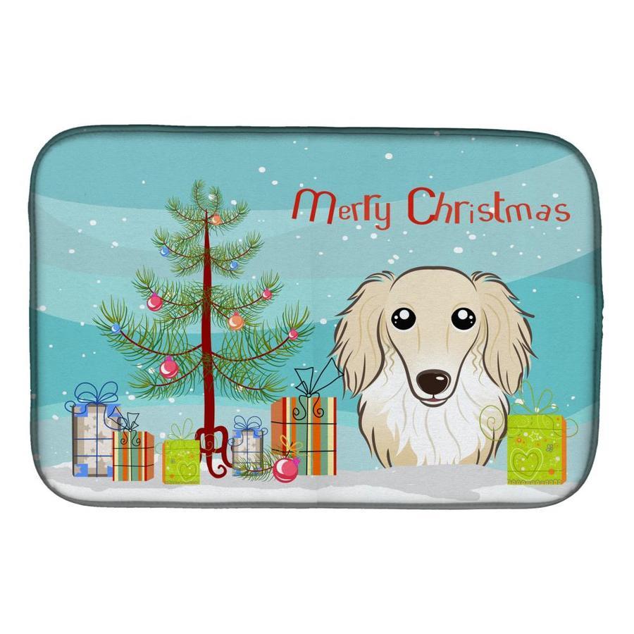 Carolines Treasures Merry Christmas Irish Wolfhound Door Mat Multicolor