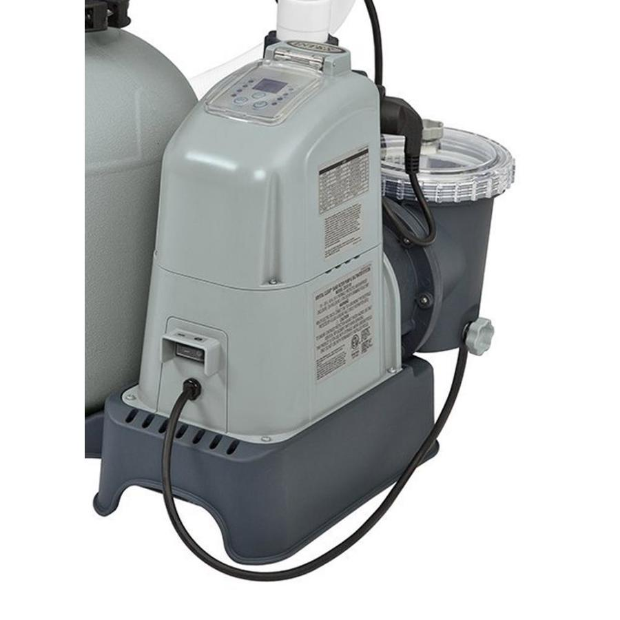 Intex Intex 1600 Gph Saltwater System And Sand Filter Pump Set For Above Ground Pools In The Pool Filter Systems Department At Lowes Com