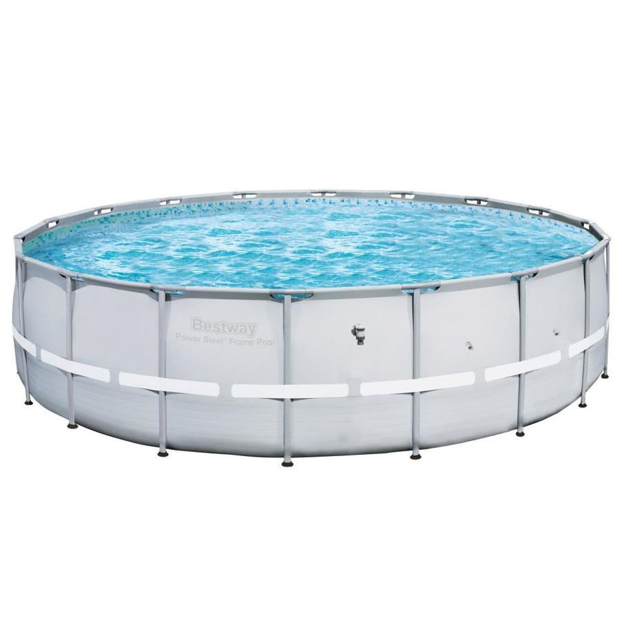 Power Steel 18-Ft X 18-Ft X 52-In Round Above-Ground Pool - Bestway 59023