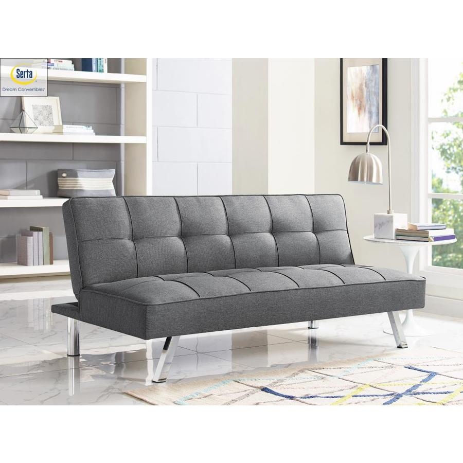 Charcoal Polyester Sofa Bed in Gray   - Serta SCCA250CHAR