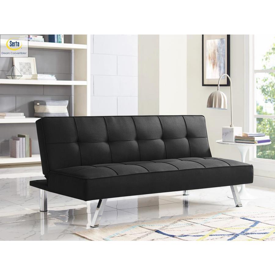 Black Polyester Sofa Bed   - Serta SCCA578BLK