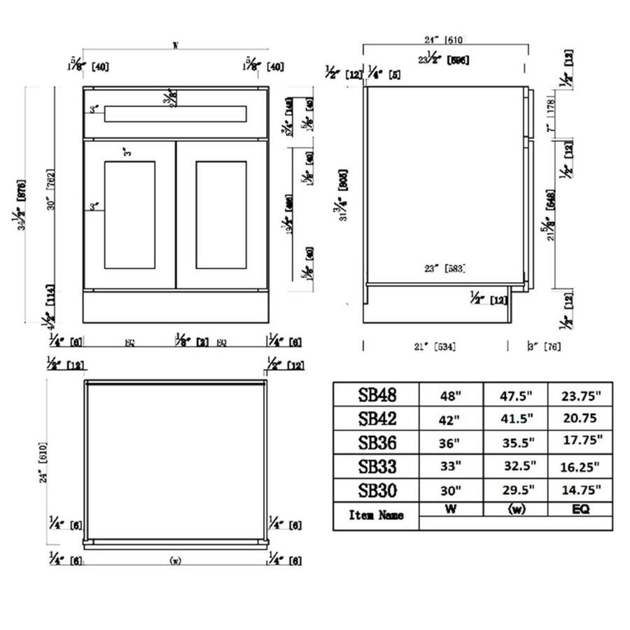 Design House Ready To Assemble 48x24x34 1 2 In Brookings Shaker Style 2 Door Sink Base Cabinet In Espresso In The Semi Custom Kitchen Cabinets Department At Lowes Com