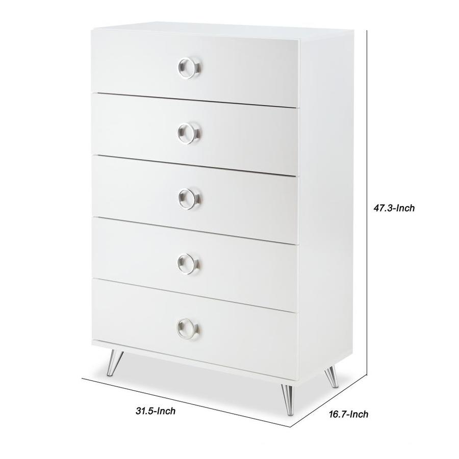 Benzara Five Drawers Wooden Chest In Contemporary Style In The Chests Department At Lowes Com