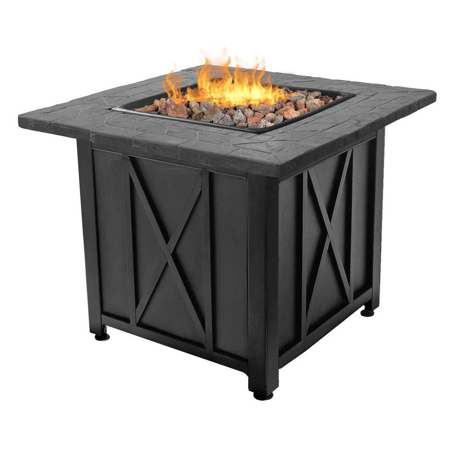 Endless Summer 30 In W 30000 Btu Black Steel Propane Gas Fire Pit The Pits Department At Lowes