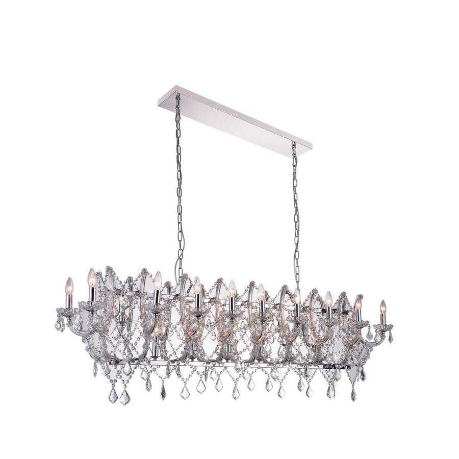 CWI Lighting Amelia 6 Light Chrome Chandelier with Black