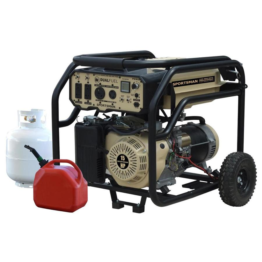 6000-Watt Gasoline/Propane Portable Generator with Oem Engine   - Sportsman GEN7500DF-SS