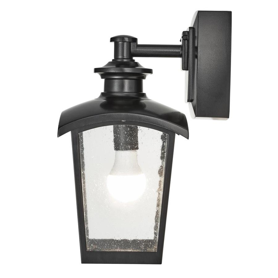 Home Luminaire 15 In H Black Medium Base E 26 Outdoor Wall Light In The Outdoor Wall Lights Department At Lowes Com