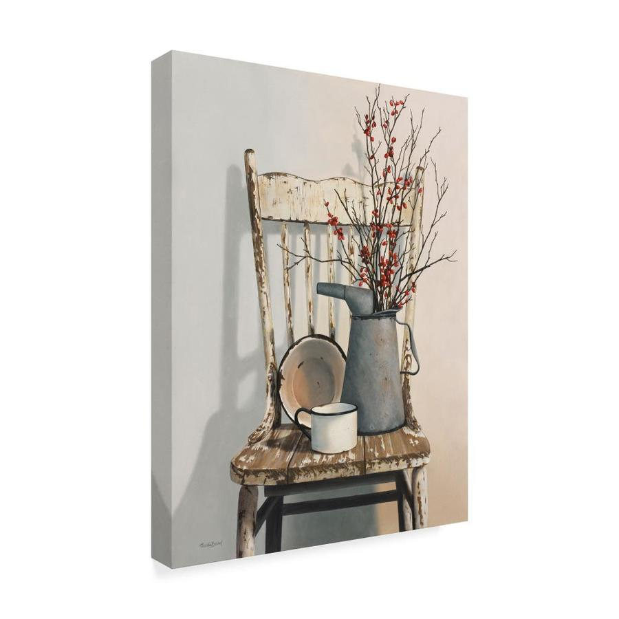 Trademark Fine Art Still Life Framed 24 In H X 18 In W Botanical Canvas Print In The Wall Art Department At Lowes Com