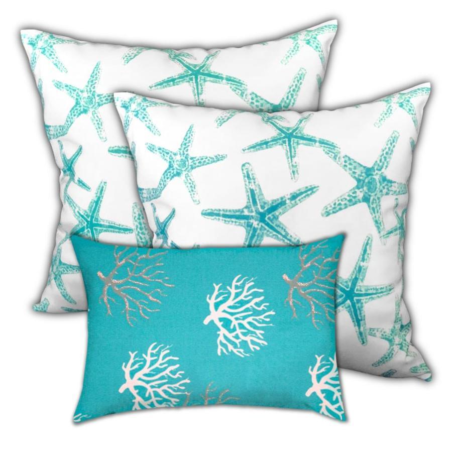 1 Lumbar Pillow, Coral Lagoon