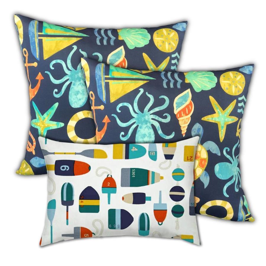 Lumbar Pillow, Dark Ocean