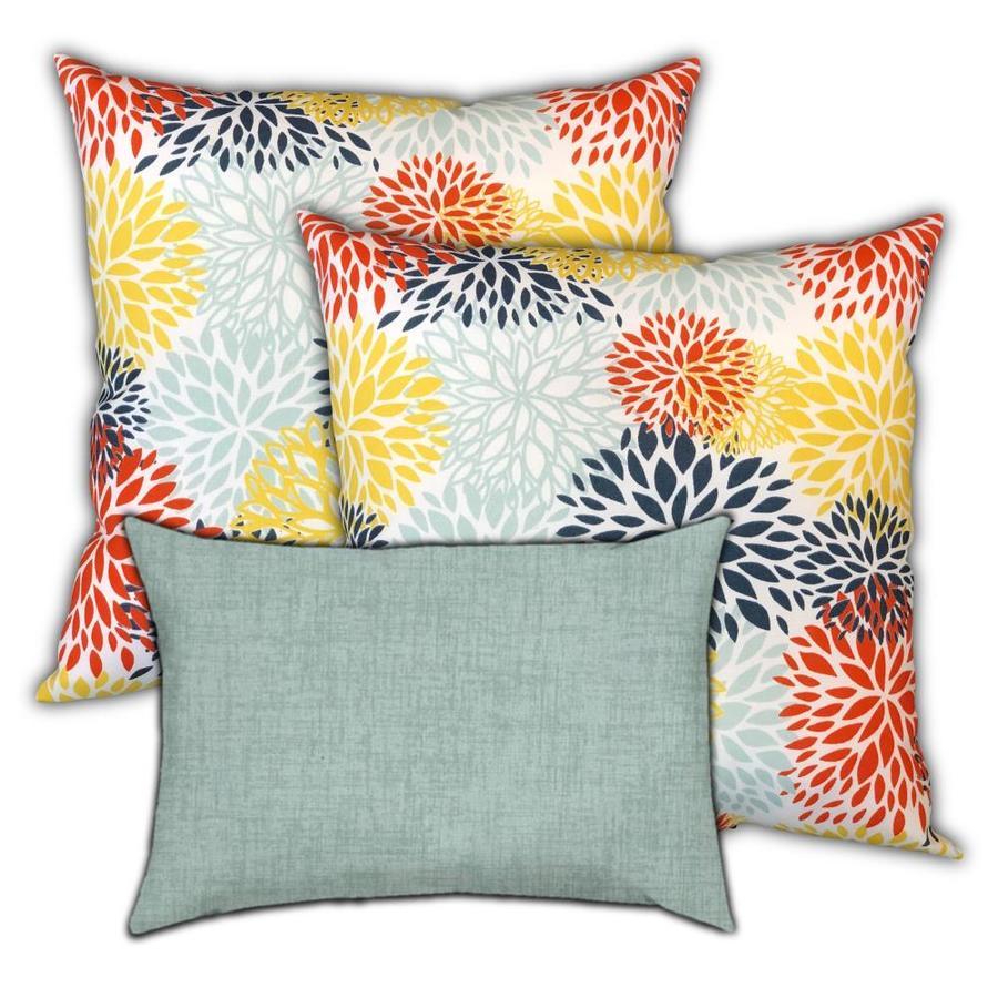 Aqua Blue & Grey Outdoor Pillow Cover