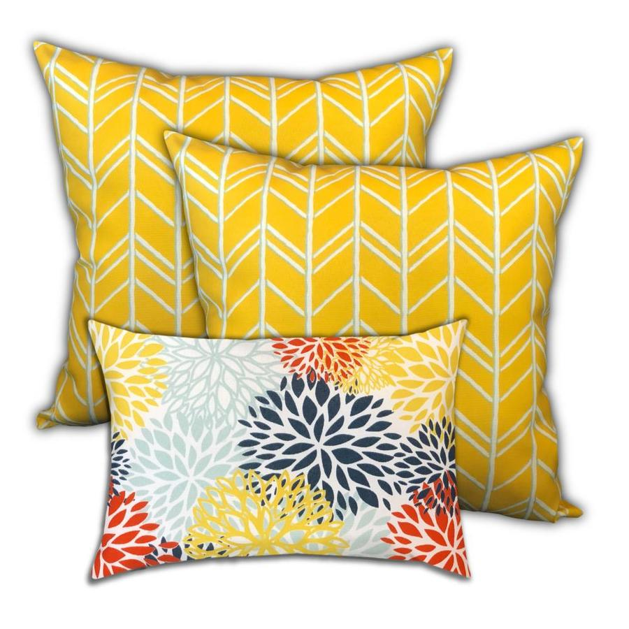 Yellow decorative pillows