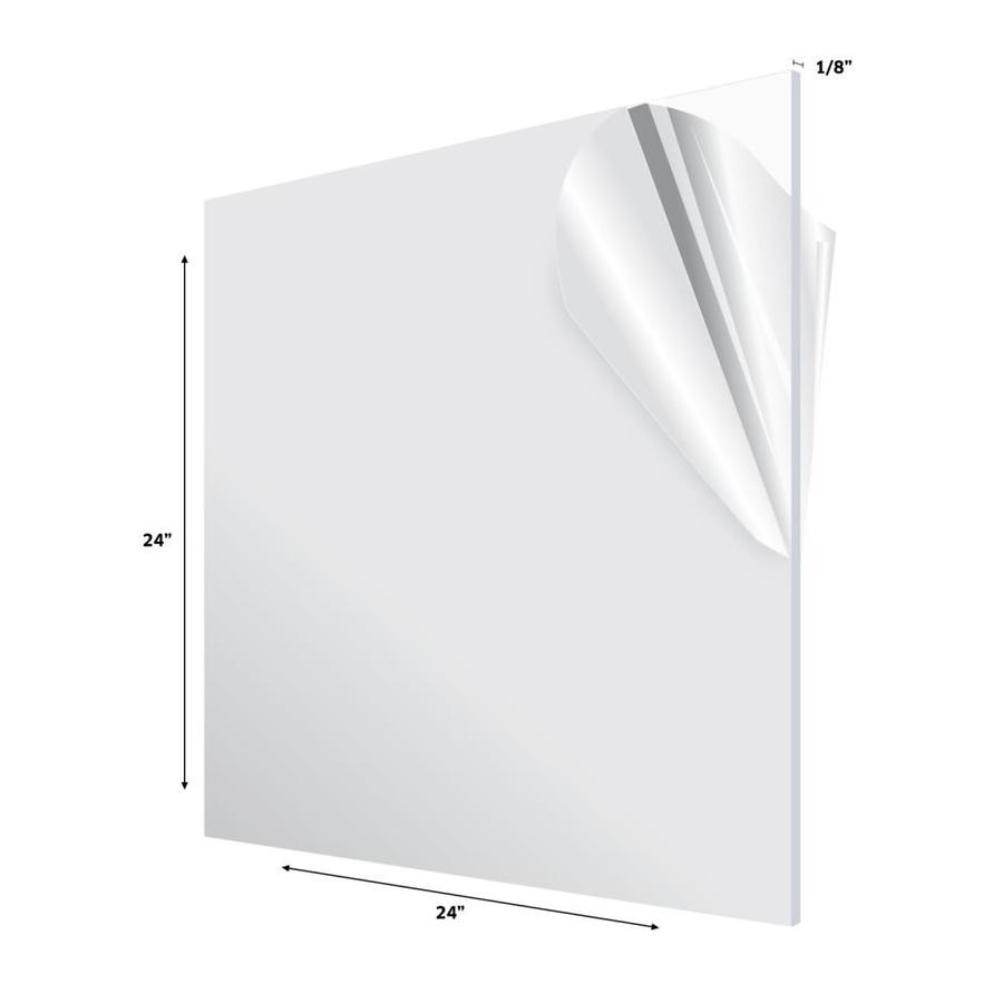 Adiroffice 24 In X 24 In X 1 8 In Clear Plexiglass Acrylic Sheet In The Plastic Sheeting Film Department At Lowes Com