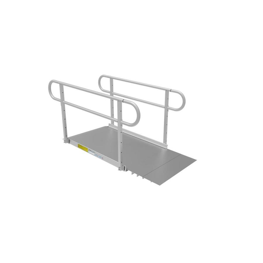 Ez-Access 19.8333-Ft X 40.25-In Aluminum Solid Doorway Wheelchair Ramp P3g Ss04