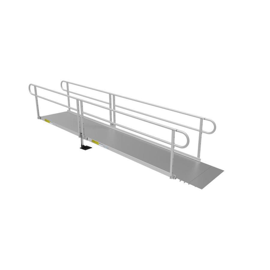 Ez-Access 25.8333-Ft X 40.25-In Aluminum Solid Doorway Wheelchair Ramp P3g Ss14
