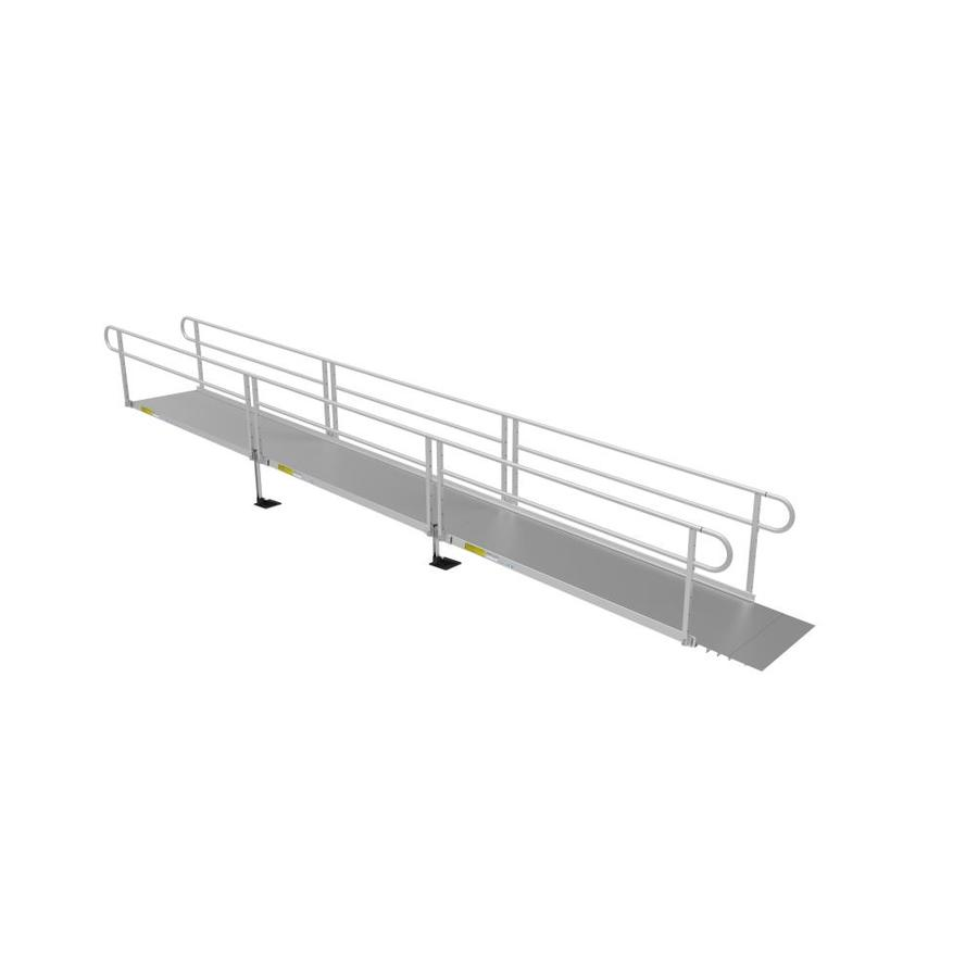 Ez-Access 11.8333-Ft X 40.25-In Aluminum Solid Doorway Wheelchair Ramp P3g Ss24