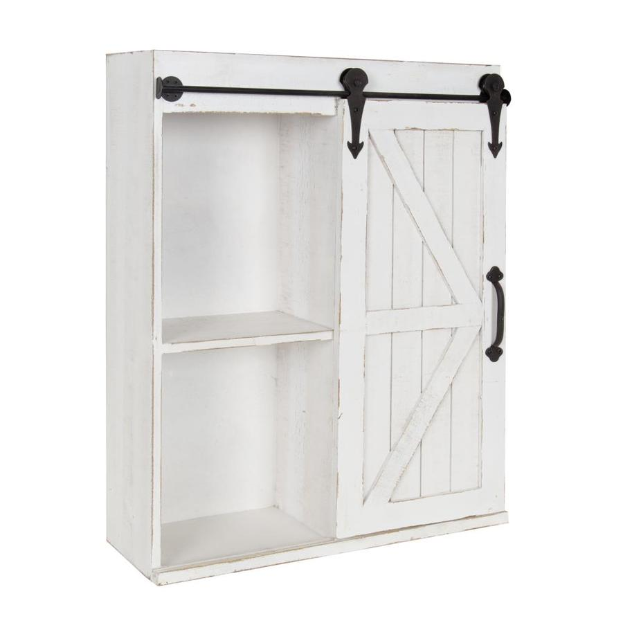 Kate And Laurel 22 In L X 28 In H X 8 In D Wood Wall Cabinet In The Wall Mounted Shelving Department At Lowes Com