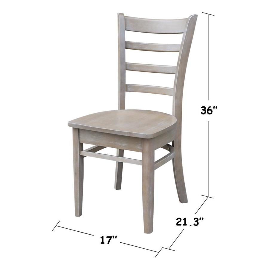 International Concepts Set Of 2 Emily Casual Dining Side Chair Wood Frame In The Dining Chairs Department At Lowes Com