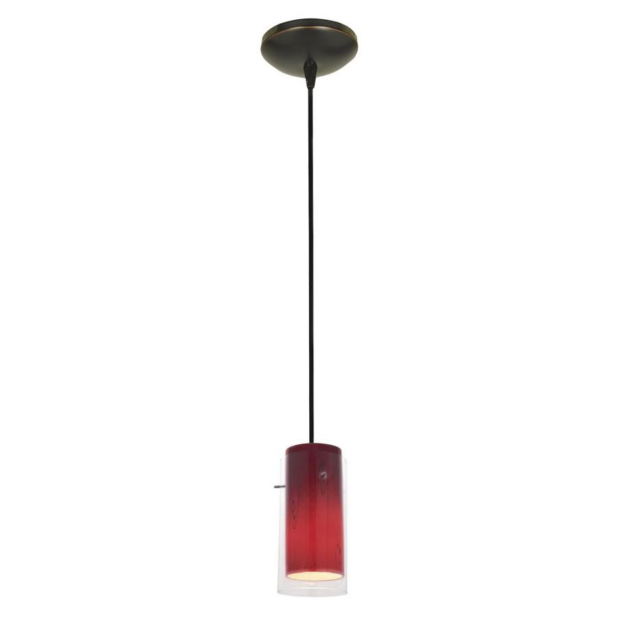 Glass`n Glass Cylinder Oil Rubbed Bronze Modern/Contemporary Geometric LED Mini Pendant Light   - Access Lighting 28033-4C-ORB/CLRUSKY