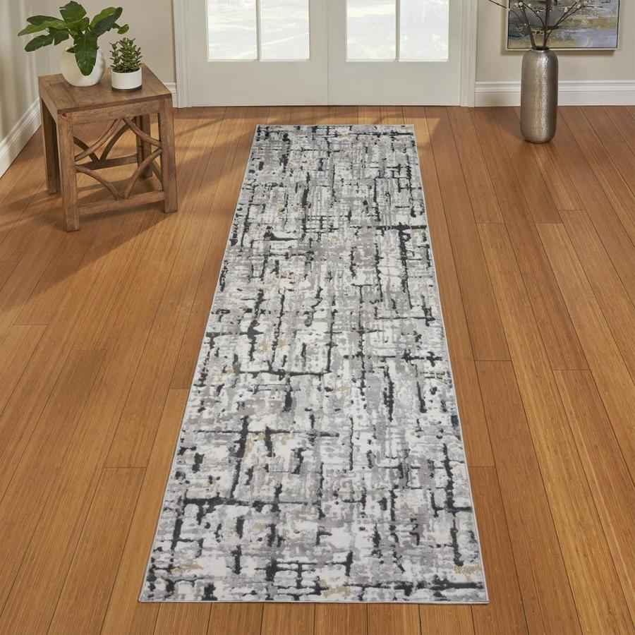 G A Gertmenian Sons Quattro 2 X 8 Lhasa Gray Indoor Abstract Runner In The Rugs Department At Lowes Com