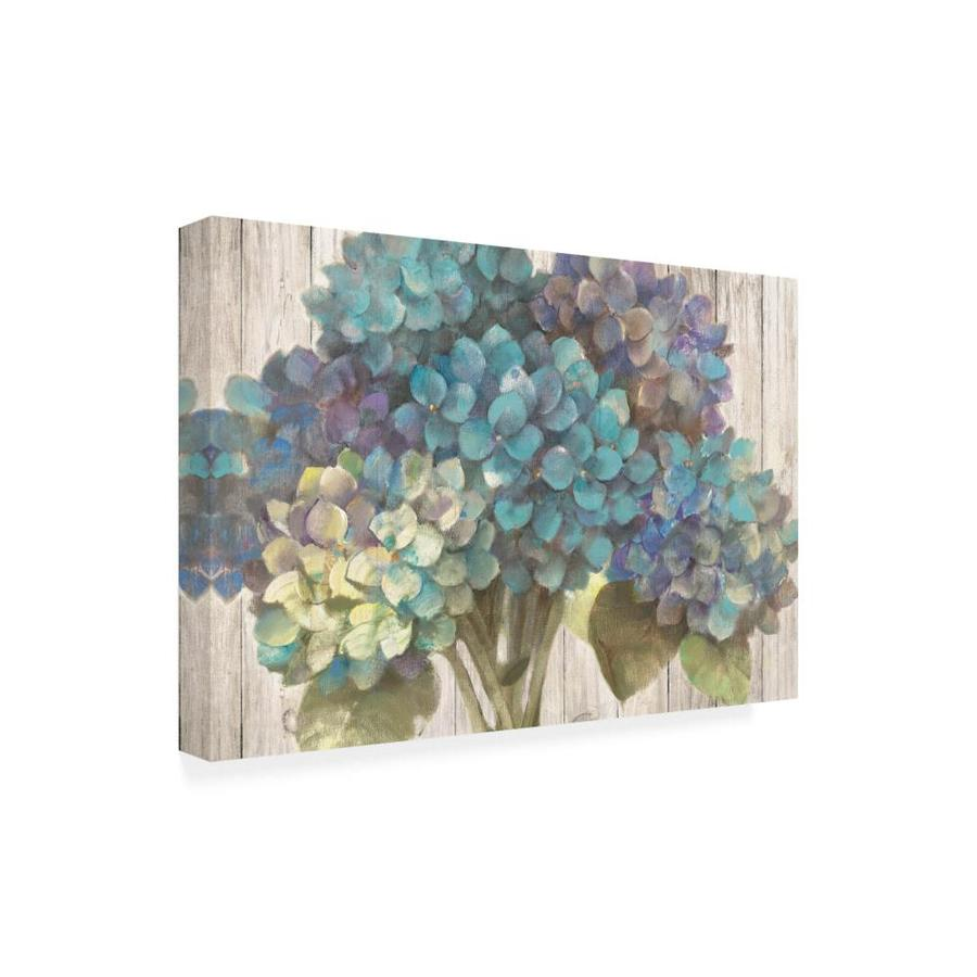 Trademark Fine Art Floral Framed 30 In H X 47 In W Floral Canvas Print In The Wall Art Department At Lowes Com