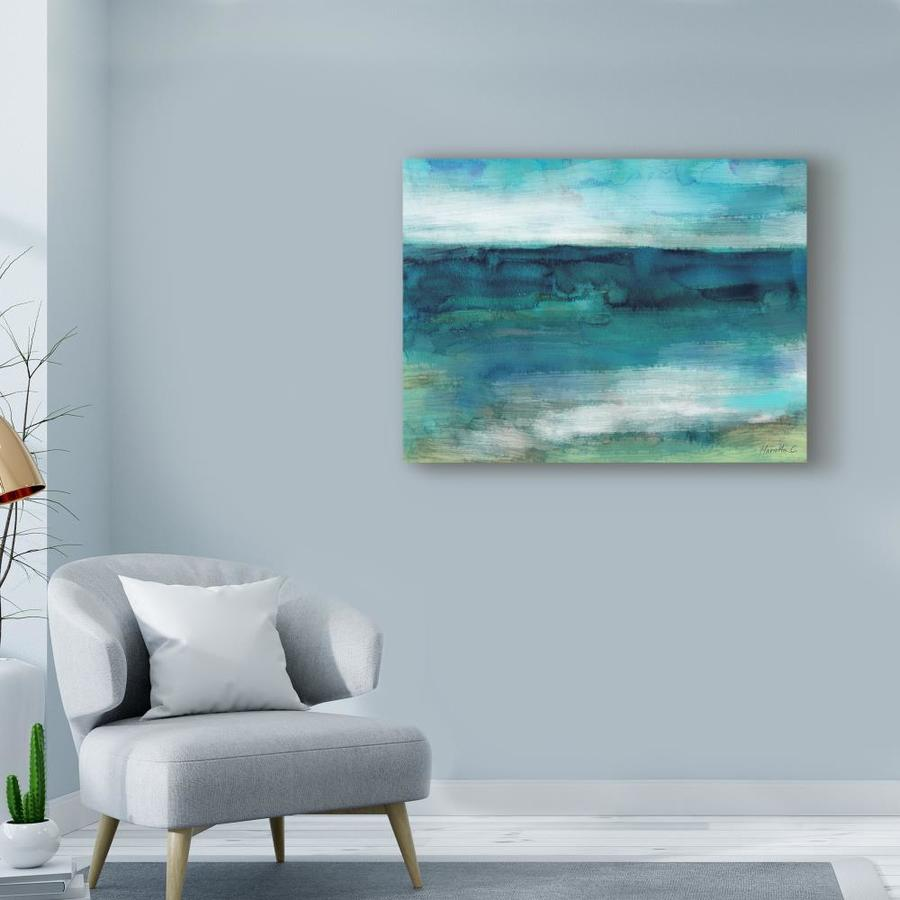 Trademark Fine Art Abstract Framed 14 In H X 19 In W Abstract Canvas Print In The Wall Art Department At Lowes Com