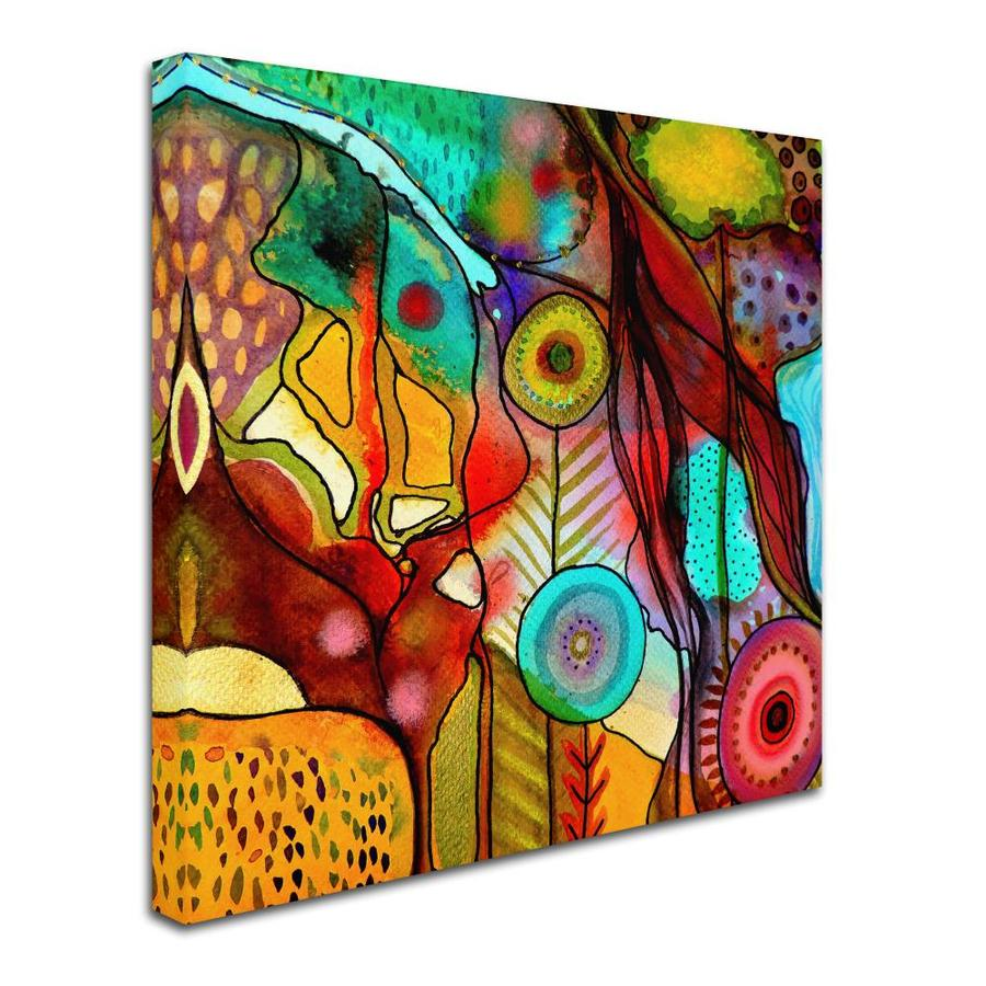 Trademark Fine Art Abstract Framed 35 In H X 35 In W Abstract Canvas Print In The Wall Art Department At Lowes Com