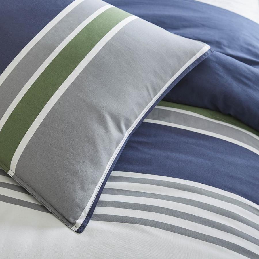 Westpoint Home Izod Liam Comforter Set 3 Piece Mood Indigo Twin Comforter Set In The Bedding Sets Department At Lowes Com